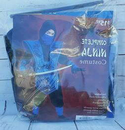 Complete Ninja Costume Blue Black Fun World Child Boys L 10-