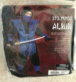 Complete Ninja Costume Blue Black Fun World Child Boys L 10-