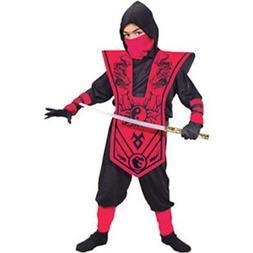 Fun World Complete Ninja Child Halloween Costume, Red