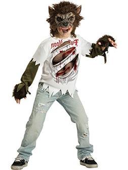InCharacter Costumes, LLC Boys Werewolf Mask and Shirt Set,