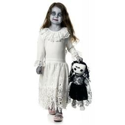 Creepy Doll Costume Kids Scary Halloween Fancy Dress