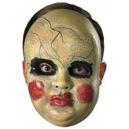 Creepy Horror Prop BABY DOLL FACE MASK Spooky Halloween Cost