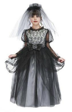Just Pretend Kids Dark Bride Costume with Hoop and Veil, X-L