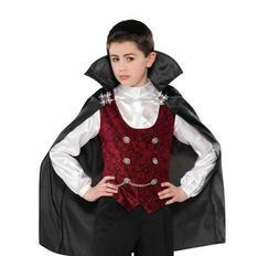 Amscan DARK VAMPIRE Dracula 2-Piece Costume Shirt/Vest & Cap