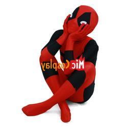 Deadpool Kids Cosplay Costume Halloween Boys Jumpsuit