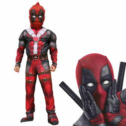 Deluxe Boys Marvel Deadpool Halloween Party Costume Children