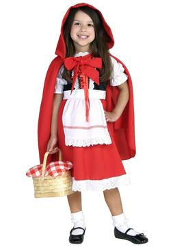 DELUXE CHILD LITTLE RED RIDING HOOD COSTUME SIZE XSMALL