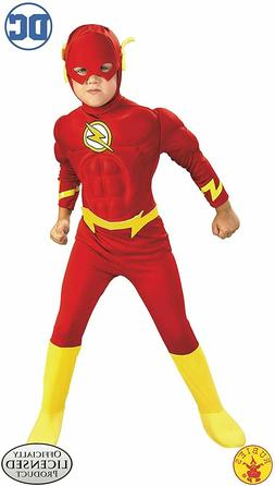 DC Comics Deluxe Muscle Chest The Flash Boys Kids Child Cost