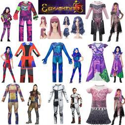 Descendants 3 Kids Cosplay Costume Mal Evie Evil Audrey Carl