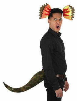 Dinosaur Dilophosaurus Headband and Tail Costume Kit for adu