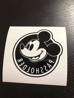 Disney Passholder Sticker Decal