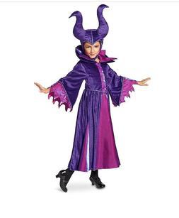 DISNEY STORE Maleficent COSTUME For Kids 5/6/7/8/9/10 Horns