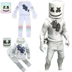 DJ Marshmallow Costume Kids Boys Cosplay Fancy Dress Hoodie