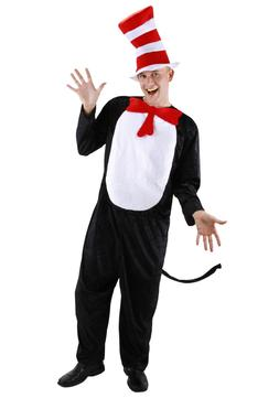 Dr. Seuss - The Cat In The Hat Adult Costume - Elope