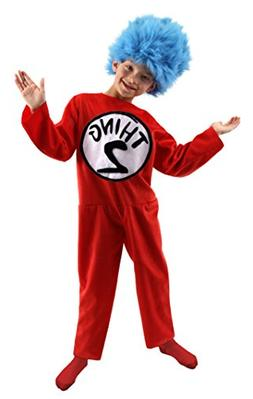 Elope Costumes Dr. Seuss Thing 1 and 2 Child, 8-10, 1 ea