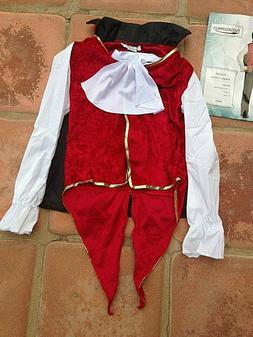 dracula vampire costume vest w attached shirt