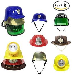 Dress Up Pretend Play Hats Helmets for Kids - Halloween Cos