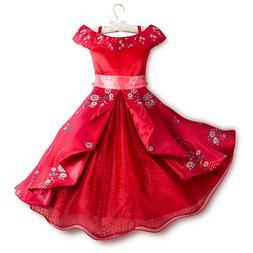 Disney Store Elena of Avalor Deluxe Dress Costume for Kids P