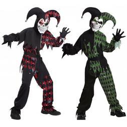 evil jester costume kids scary halloween fancy