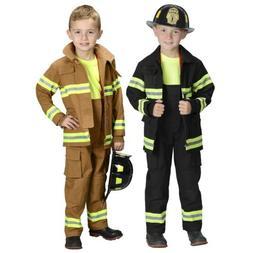 Firefighter Costume for Kids Fireman Suit Halloween Fancy Dr