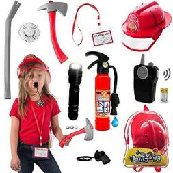 10 pcs Fireman Toys for Kids Costume and Role Play Accessori