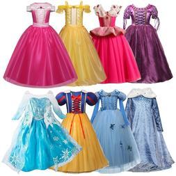<font><b>Girls</b></font> Dress Christmas Anna Elsa Cosplay