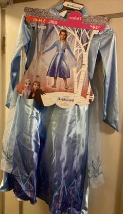 Disney Frozen 2 Anna Deluxe Child Costume Size Small 4-6