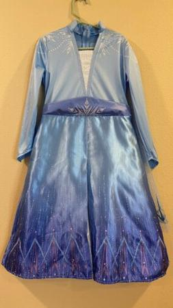 Disney Frozen II Elsa Deluxe Child Costume Size 4-6x Kids Dr