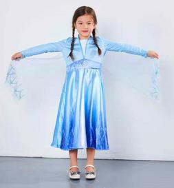 Frozen Princess ELSA Kids Girls Fancy Dress Costume Cosplay