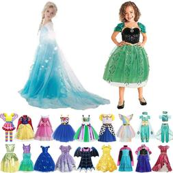 Girl Elsa Anna Princess Dress Toy Story Woody <font><b>Costu