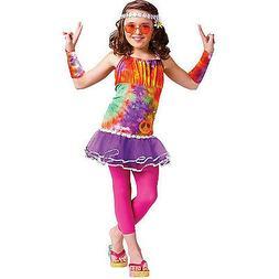 Girls Age of Aquarius Hippie Kids Costume Large