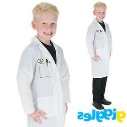 Girls & Boys White Lab Coat Doctors Nurses Hospital Childs F