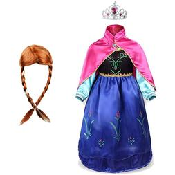 girls anna elsa princess font b dress