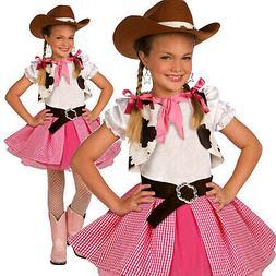 Girls Cowgirl Cutie Costume Kids Western Cow Girl Fancy Dres
