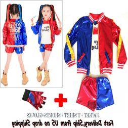 Girls Halloween Costumes Harley Quinn Cosplay Suicide Squad