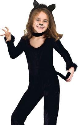 Girls Kids Black Cat Playful Kitty Kitten Costume - S 4-6, M