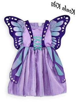 Koala Kids Glitter Lavender Butterfly Costume Dress Gown Hal