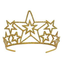 beistle Glittered Metal Star Tiara
