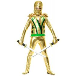 Gold Ninja Avenger Costume Kids Ninjago Halloween Fancy Dres