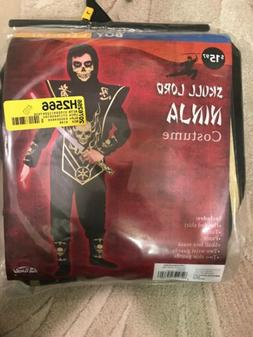 Fun World Gold Skull Ninja Child Costume L