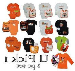 Halloween Bodysuit Baby Bib 1st Holiday Creeper Romper Costu