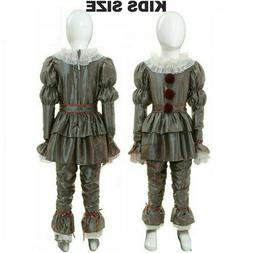Halloween Cosplay Kids Chapter Two Pennywise Movie IT Costum