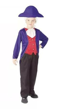 Halloween Costume Boys George Washington Child Costume Size