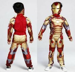 Halloween Costume For Kids Deluxe Iron Man Jumpsuit Boys Cos