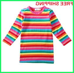 Halloween Costumes 4U Child Kids Rainbow Striped Chucky Good
