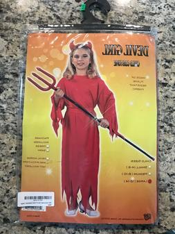 Halloween RG Costumes Devil Girls Costume Dress Sash Child L