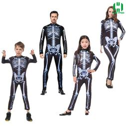 Halloween Horror <font><b>Skeleton</b></font> Cosplay <font>