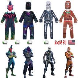 HALLOWEEN KIDS COSTUME Skull Raven GINGERBREAD Man Jumpsuits