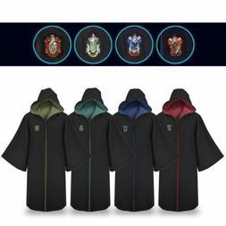 Harry Potter Adult Kids Gryffindor Slytherin Robe Cloak Cosp