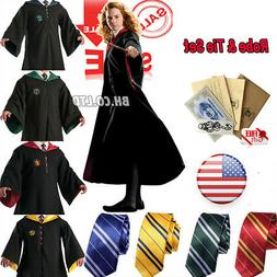 Harry Potter Hogwarts Adult Child Robe Cloak Scarf Halloween